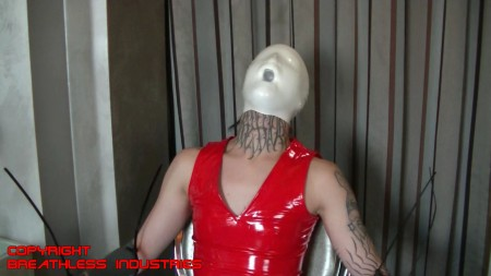 Keter in latex outfit hard bag breathplay - 5 1
