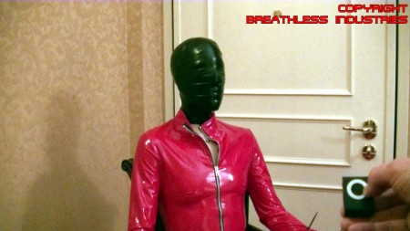 Bettie blue hogtied extreme latex breathplay - 4 1